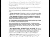 Builders Contract Template Construction Contract Template Construction Agreement form