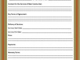 Builders Contract Template Free Word Templates Part 2