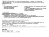 Building Engineer Resume Building Maintenance Engineer Objectives Resume