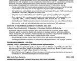 Building Engineer Resume Senior software Engineer Sample Resume