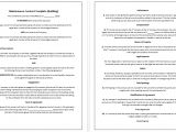 Building Maintenance Contract Template 5 Free Maintenance Contracts Samples and Templates
