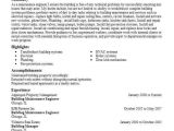 Building Maintenance Engineer Resume Building Maintenance Engineer Objectives Resume