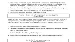 Building Material Sales Resume Sample Vishal Shelke Cv Sales Professional In Building