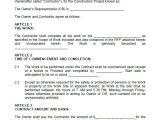 Building Work Contract Template 40 Great Contract Templates Employment Construction