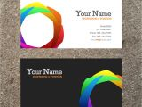 Buisiness Card Template 10 Modern Business Card Psd Template Free Images Free