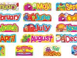 Bulletin Board Calendar Template Furry Friends Monthly Seasonal Headers Mini Bulletin