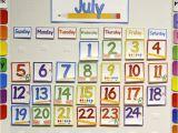 Bulletin Board Calendar Template Home Preschool Calendar Board From Abcs to Acts