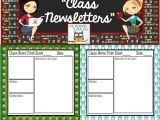 Bulletin Board Calendar Template Newsletter Editable Templates Back to School Resources