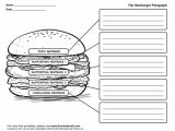 Burger Writing Template Hamburger Graphic organizers Hamburger Paragraph Template