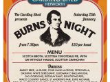 Burns Night Menu Template Burns Night at the Carding Shed Holmfirth events