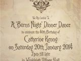 Burns Supper Menu Template Knots and Kisses Wedding Stationery A Burns Night