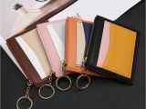 Business Card Holder for Women Coin Purse Women Leather Purses and Handbags Mini Bag Zip