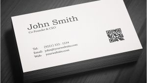 Business Card Preview Template Free Minimal Business Card Psd Template Freebies
