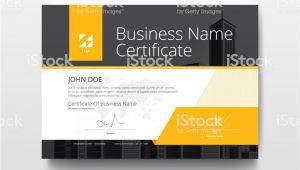 Business Card Yellow and Black Vector Ein Modernes Business Zertifikat Vorlage Layout Mit Gelb Und