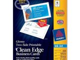 Business Cards Avery Template Clean Edge Business Card Avery Dennison 8859 72782 Avery Paper
