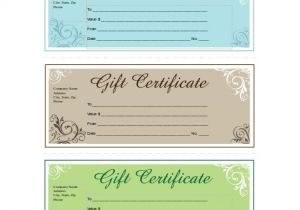 Business Gift Certificate Template 14 Business Gift Certificate Templates Free Sample