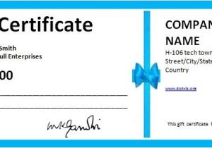 Business Gift Certificate Template 7 Free Gift Certificates Certificate Templates