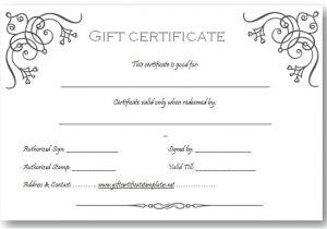 Business Gift Certificate Template Art Business Gift Certificate Template Beautiful