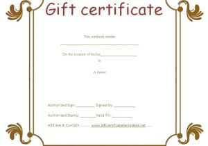 Business Gift Certificate Template Business Gift Certificate Templates Gift Certificates
