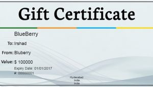 Business Gift Certificate Template Gift Certificate Template 34 Free Word Outlook Pdf