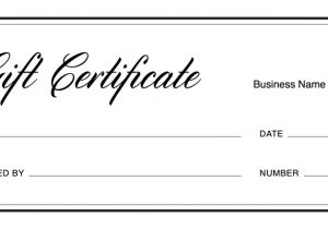 Business Gift Certificate Template Gift Certificate Templates Download Free Gift