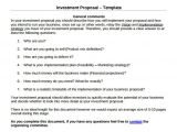 Business Investor Proposal Template 18 Investment Proposal Samples Sample Templates