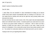 Business Meeting Follow Up Email Template Follow Up Letter 7 Free Doc Download