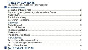 Business Plan Free Template Word 30 Sample Business Plans and Templates Sample Templates