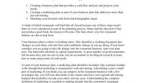 Business Plan Template for Startup Restaurant Startup Restaurant Business Plan