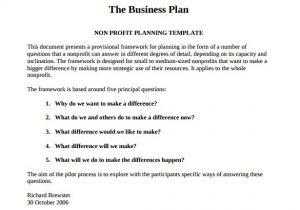 Business Plans Templates Pdf 21 Non Profit Business Plan Templates Pdf Doc Free
