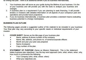 Business Plans Templates Pdf 9 Sample Sba Business Plan Templates Sample Templates