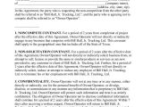 Business Templates Noncompete Agreement 10 Non Compete Agreement forms Free Sample Example