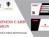 Business Visiting Card Design .cdr File Professional Business Card In Coreldraw Tutorial by Future