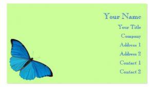 Butterfly Business Card Template butterflies Business Card Templates Bizcardstudio