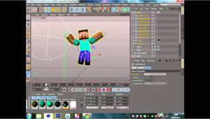 C4d Character Template Minecraft C4d Character Template Youtube
