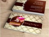 Cake Business Cards Templates Free Bakery or Cake Boutique Business Cards