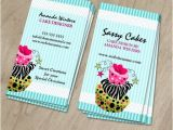 Cake Business Cards Templates Free Cake Bakery Business Cards
