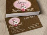 Cake Business Cards Templates Free Elegant Cake Bakery Business Cards