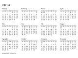 Calendar at A Glance Template 2014 Calendar at A Glance Template Templates Resume