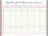 Calendar at A Glance Template 6 Best Images Of Printable Week at A Glance Calendar