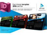 Calendar Indesign Template 2017 Indesign 2016 Desktop Calendar Template Calendar