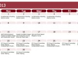 Calendar Of Activities Template Blank Calendar Template