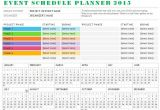Calendar Of events Template Word Sample event Schedule Planner Template formal Word Templates