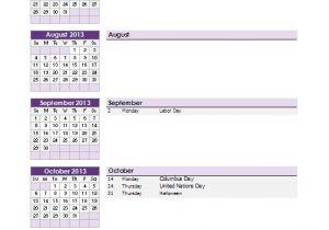 Calendar Of events Template Word School Calendar Template 2019 2020 School Year Calendar