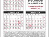Calendar Raffle Fundraiser Template Lottery Calendar Fundraiser Template Calendar Template 2018