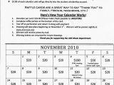 Calendar Raffle Fundraiser Template Old Alvirne Music Program Fom November Raffle Calendars