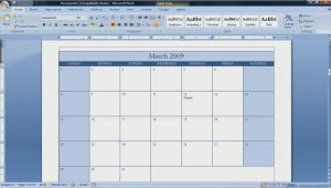 Calendar Template for Word 2007 Best Photos Of Create A Blank Calendar Free Printable