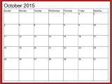 Calendar with Pictures Template October 2015 Calendar Printable Free 2017 Printable Calendar