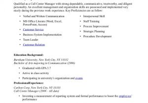 Call Center Resume Examples and Samples Call Center Resume Samples Sample Resumes
