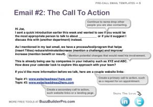 Call to Action Email Template Cold Emailing Templates for Prospecting